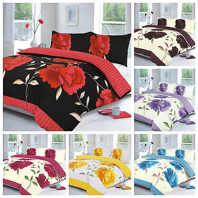 Duvet Cover With Pillow Case Quilt Cover Bedding Set Single Double King All Size • 12.99£