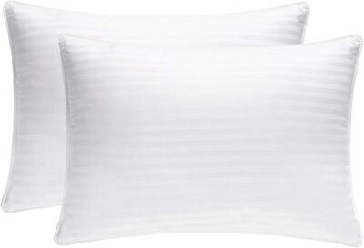 Pack Of 2 Pillows, Luxury Bounce Back Hollow Fibre Filling Pillow Pair • 6.99£