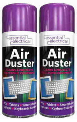 2 X Compressed Air Duster Spray Can Cleans Protects Laptops Keyboards 200ml • 5.99£