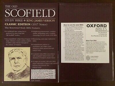 AU75 • Buy KJV Schofield Study Bible Oxford Edition