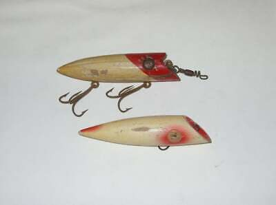 $ CDN10 • Buy 2 Vintage Collectible Fishing Lures Fishing Plugs Red White Trolling Plug