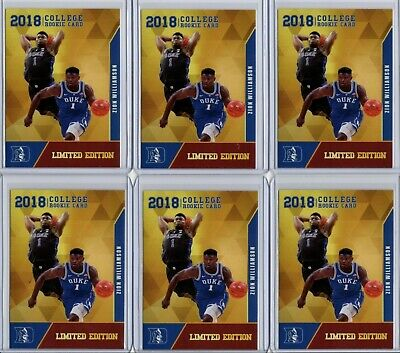$9.99 • Buy Zion Williamson 6 Card Lot 2018 Rookie Gems College Rc **limited Edition**