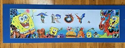 Personalized SpongeBob Squarepants Name Troy Poster Border Wall Decor Banner • 7.71£
