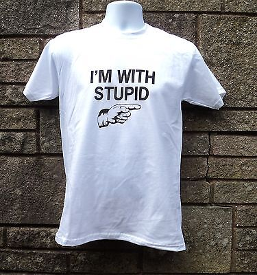 I'm With Stupid T Shirt, Funny Retro Classic Men's T Shirt • 3.89£