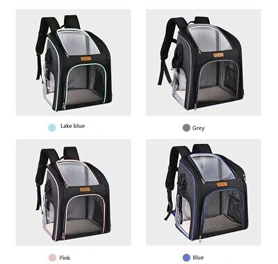 £25.99 • Buy Foldable Dog Cat Backpack Puppy Carrier Pet Cage Lightweight Travel Sided Bag