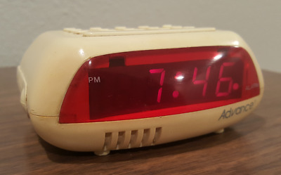 Vtg Digital Alarm Clock By Advance (super Cool!) Model 4052 70's Style • 18.56£