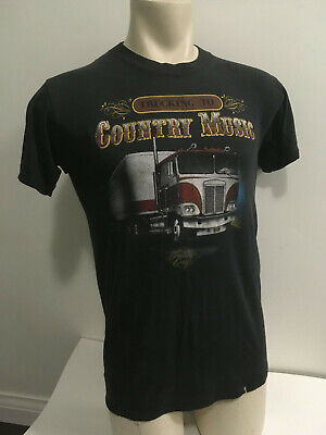 $ CDN474.95 • Buy 1985 Vintage 3D Emblem TRUCKERS ONLY Country Music TEXAS T-Shirt SIZE M / L 80's