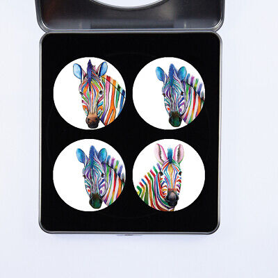 £13.99 • Buy Pattern Weights Zebras Watercolour Design By Artist Maria Moss Gift Set Of 4
