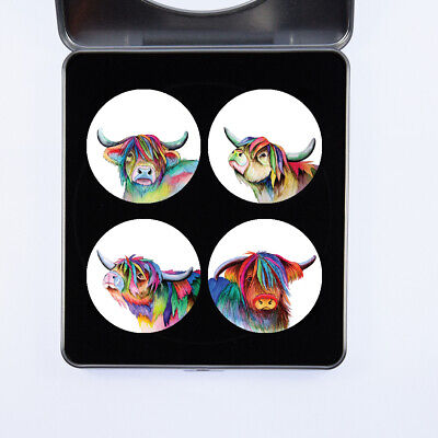 £13.99 • Buy Pattern Weights Gift Set Highland Cows Watercolour Design By Artist Maria Moss