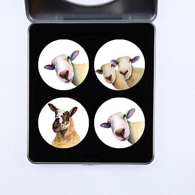 £13.99 • Buy Pattern Weights Sheep Watercolour Design By Artist Maria Moss Sets Of 4 And 6