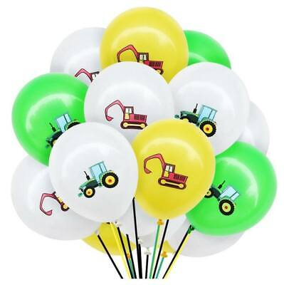 AU14.99 • Buy 12pcs 12  Farm Tractor Excavator Digger Latex Construction Party Balloon Pack