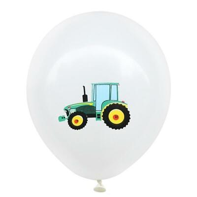 AU13.99 • Buy 12  Farm Tractor Truck Engineering Vehicle White Latex Party Balloon 10 Pack