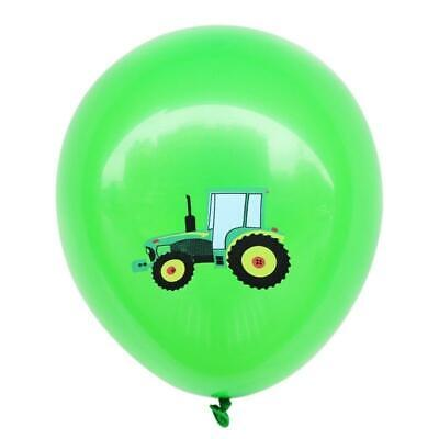 AU13.99 • Buy 12  Farm Tractor Truck Engineering Vehicle Green Latex Party Balloon 10 Pack