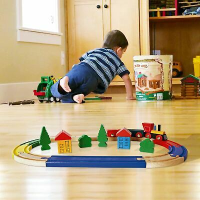 19 Piece Wooden Train Kids Toy Play Set Children Role Play Colourful Accessories • 8.99£