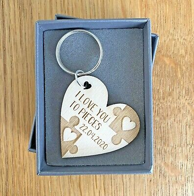 AU8.83 • Buy Personalised Valentines Day Gifts For Him Her Anniversary Boyfriend Keyring