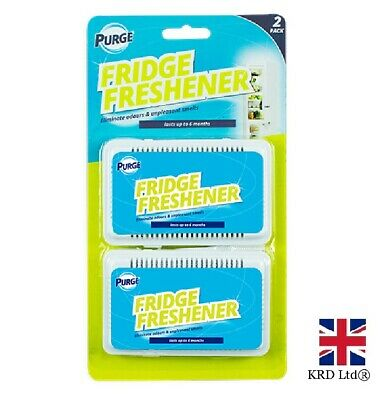 2 FRIDGE FRESHENER Deodoriser Kitchen Air Remove Smell Eliminate Odour GM0497 UK • 3.05£