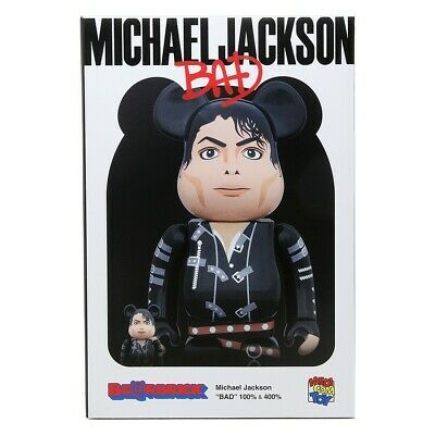 $160 • Buy Medicom BE@RBRICK Michael Jackson BAD 100% 400% Bearbrick Figure Set