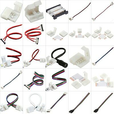 $4.49 • Buy LED Strip Light Connector Wire Cable Clip Adapter Remote Dimmer RGB 5050 3528