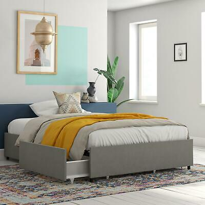 $247.99 • Buy RealRooms Alden Platform Bed With Storage Drawers, Queen Size Frame, Gray Linen