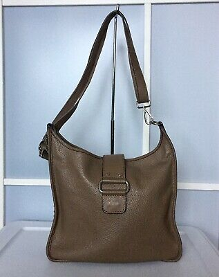 $ CDN30 • Buy Danier Taupe Pebbled Leather Shoulder Crossbody Bag