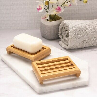 Bamboo Soap Dish, Eco Product, Fast Delivery, UK Seller • 5.25£