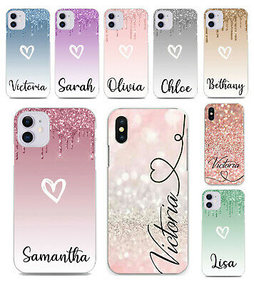 For IPhone 8 7 6s Plus 5s XR XS SE 11 Pro Case Personalised Initials Text Cover • 3.49£