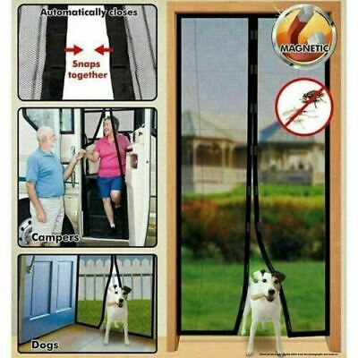 £6.85 • Buy MAGIC Magnetic Curtain Door Net Screen Insect Bug Mosquito Fly Insect Mesh Guard