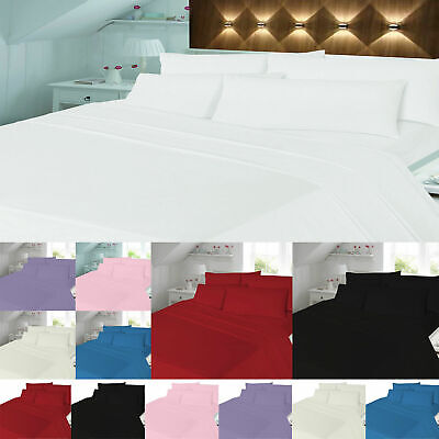 Thermal Flannelette Soft Brushed Cotton Sheets Fitted Or Flat Sheet Or Duvet Set • 11.99£
