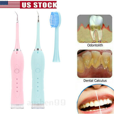 $12.82 • Buy Ultrasonic Dental Scaler Tooth Whitening Tartar Plaque Remover USB Teeth Cleaner