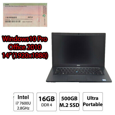 AU1299.99 • Buy Dell Latitude 7480 I7 2.8Ghz 16GB DDR4 500GB SSD Win10 Pro Ultra Book Laptop
