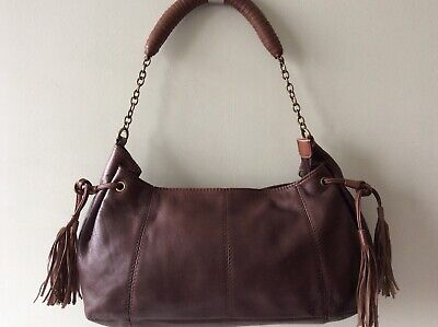 MEXX Real Leather Ladies Brown Underarm Shoulder Bag • 15£