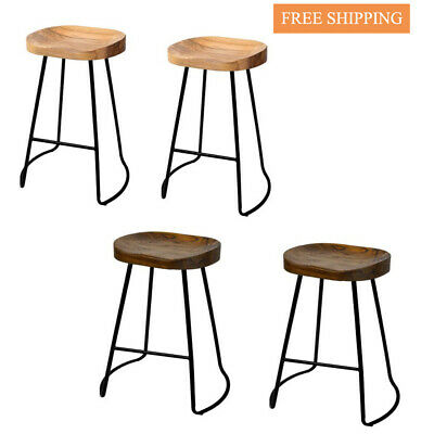AU189.24 • Buy Artiss Set Of 2 Wooden Backless Bar Stools Vintage Tractor Barstools