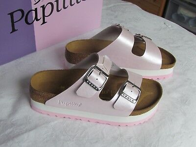 NEW Papillio Arizona Ladies Powder Pink Platform Mules Sandals UK Size 3.5 EU 36 • 59.99£