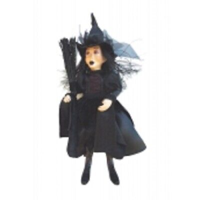 Witches Of Pendle *zara Goth  Black 50cm Flying Witch  Info Book Occult • 29.95£