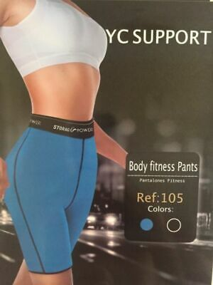 £8.49 • Buy Neoprene Body Fitness ThermoPants/Shorts-High Quality-Double Faced (Black/Blue)