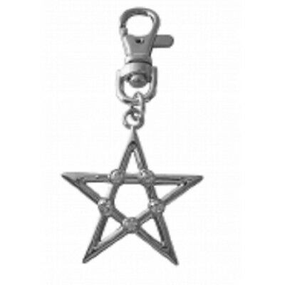 Witches Of Pendle *pentagram  Bag Charm/ Keyring Hand Made Chrome Occult/ Witch • 4.75£