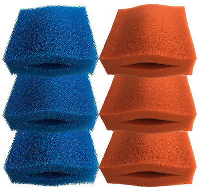 Oase Biotec 5/10/30 3 X Coarse And 3 X Fine Red Foam Sponge Filter Set For Pond • 29.99£