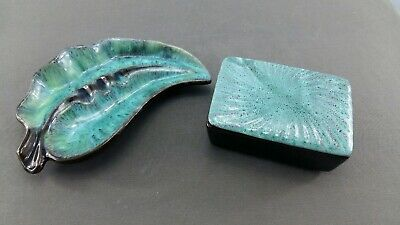 $ CDN18.99 • Buy Blue Mountain Pottery Cigarette Box And Ashtray By Evangline