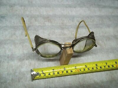 $29.95 • Buy Vtg Willson?Spectacle Safety Goggles Motorcycle Eye Glasses Steampunk Industrial