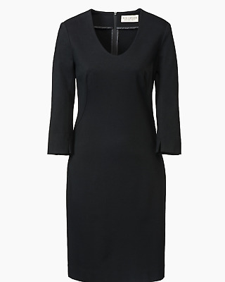 $ CDN107.35 • Buy MM M.M. LaFleur Black Wear To Work Rounded V-neck Sheath Karen Dress 10 EUC