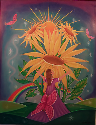 Original Art  Hope  Sunflowers Oil Pastel & Color Pencil George E Miller   • 5,112.07£