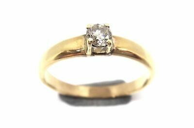 AU300 • Buy 14CT Yellow GOLD & Diamond Solitaire Ring