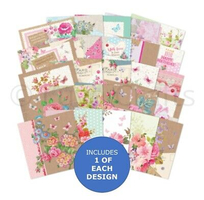 Hunkydory The Square Little Book Of Florabunda Matt-tastic Paper Sample Pack 25x • 2.99£