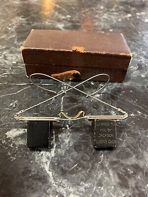 $45 • Buy Rare Vintage Prism Right Angle Climbing Lazy Reading Eyeglasses W/Case