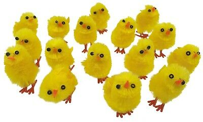 8 - 160 Mini Yellow Chicks Bonnet Hat Craft Kids Easter Egg Hamper Decorations  • 3.29£
