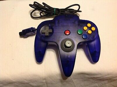 AU60 • Buy N64 Clear Midnight Blue Controller Only Genuine Used