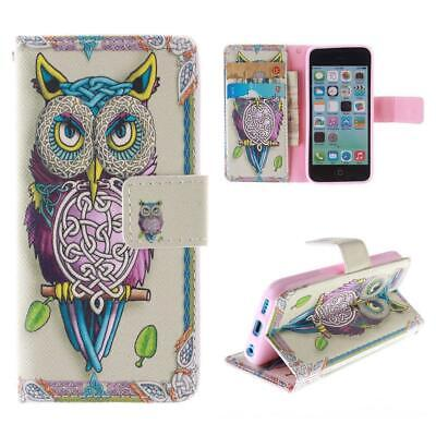 Owl Pattern Wallet IPhone Case For Apple IPhone 7 Plus Folio Cover Stand • 4.99£