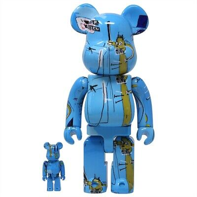$340 • Buy Medicom BE@RBRICK Jean-Michel Basquiat #4 100% 400% Bearbrick Figure Set