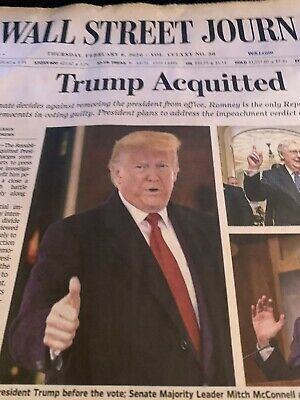 $17.99 • Buy Wall Street Journal Trump Acquitted February 6, 2020