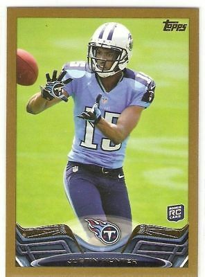 $2.50 • Buy Justin Hunter Gold Rookie Serial #/2013 2013 Topps 248 Tennessee Titans Voluntee